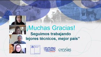 Screen shot de la reunión del Comité Asesor Empresarial, CAE, de Turismo de la Región de Los Ríos