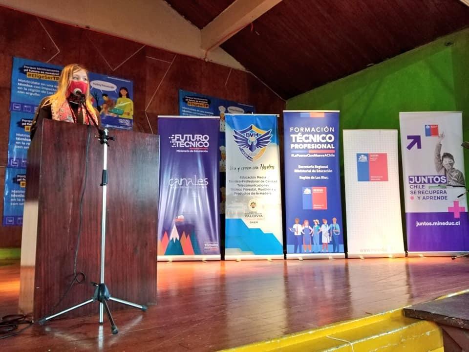 Acto de la celebración del Día de la Educación Técnico Profesional en Los Rios